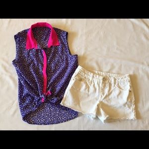 Girls Justice Outfit Top & Shorts 12